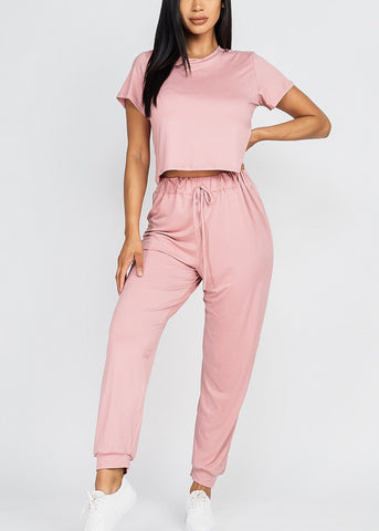 Image of Mauve Top & Joggers (2 PCE SET)