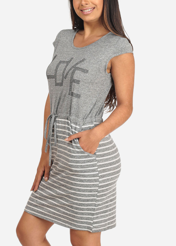 Stripe Light Grey Dress