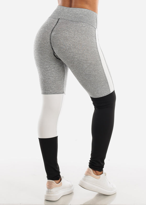 Activewear Colorblock Light Grey Leggings