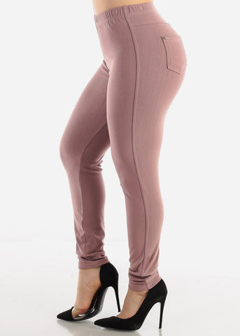 Mauve Jeggings