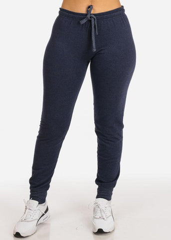 Image of Heather Navy Jogger Pants