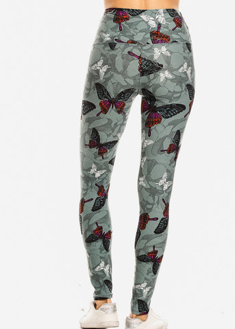 Activewear Butterfly Printed Leggings