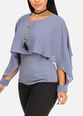 Chambray Top W Necklace