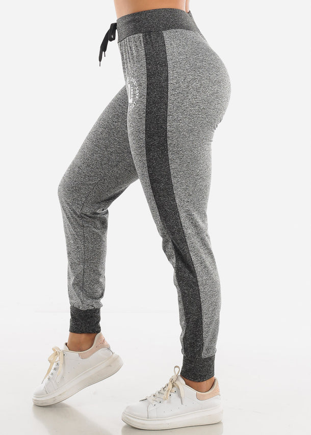 Heather Grey Fleece Drawstring Jogger