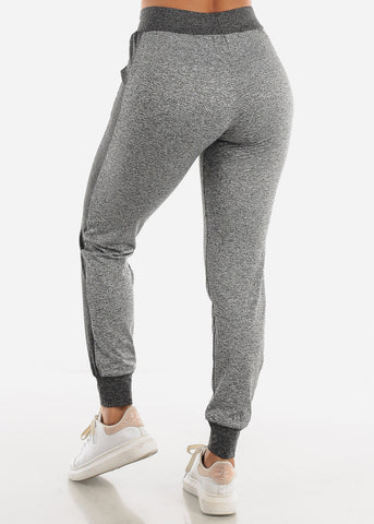 Image of Heather Grey Fleece Drawstring Jogger