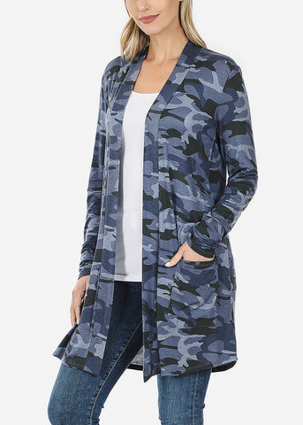 Image of Blue Camo Cardigan