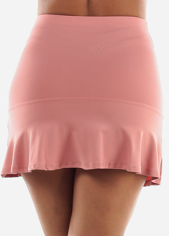 Image of Rose Skater Mini Skirt