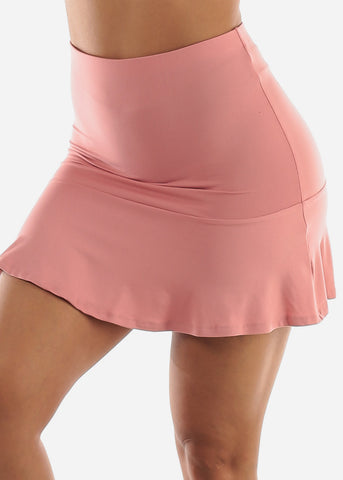 Rose Skater Mini Skirt
