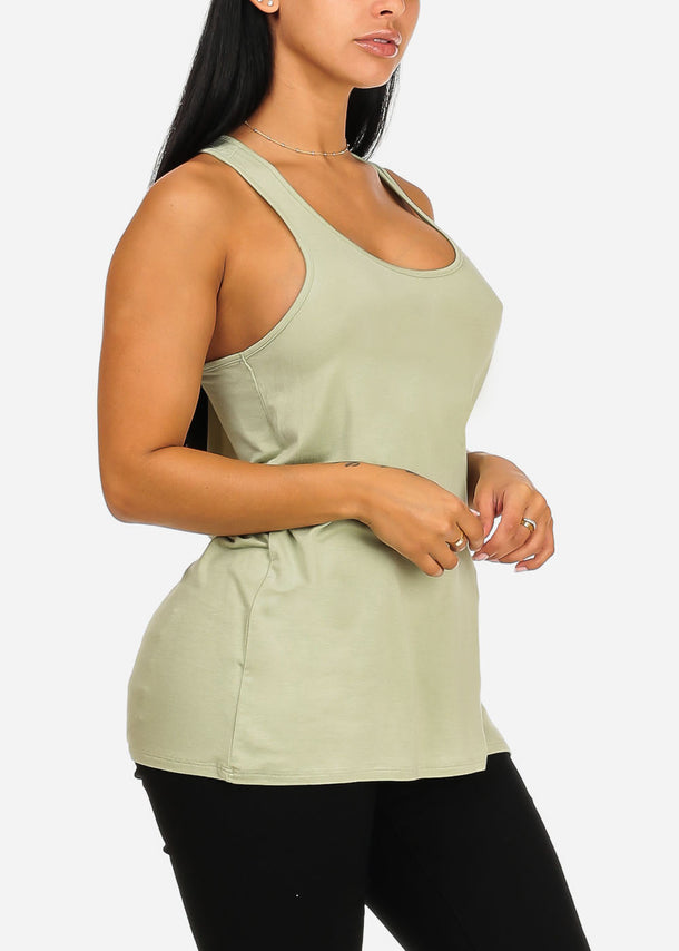 Essential Light Green Basic Top