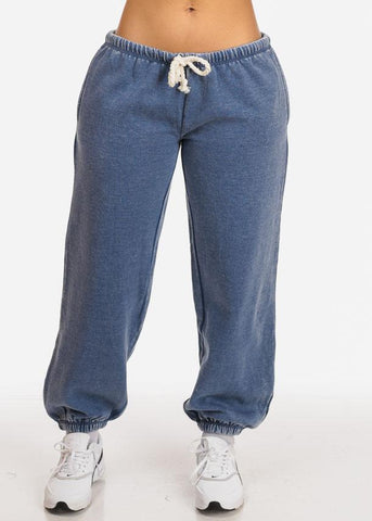 Affordable Blue Low Rise Jogger Pants