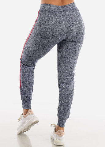 Heather Blue Side Stripe Joggers