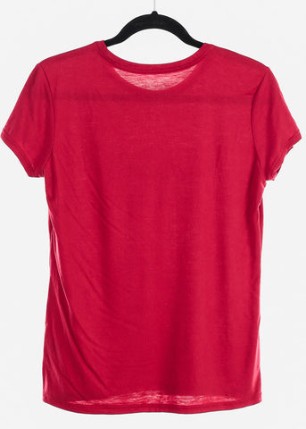 "Red Graphic Top ""Angel"""