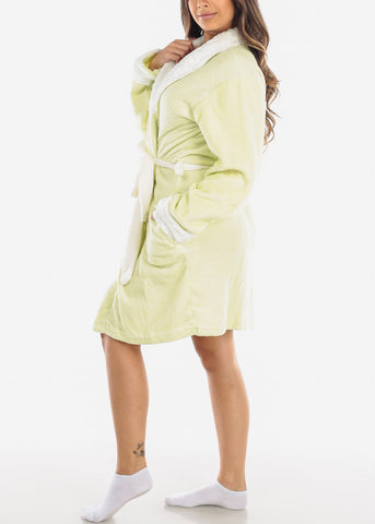 Image of Lime Fleece Robe