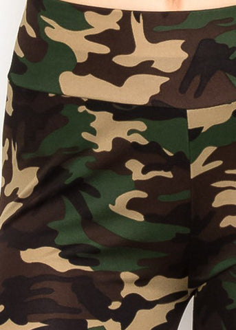 High Rise Camo Print Leggings