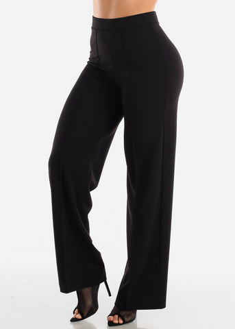 Black Wide Legged Dressy Pants