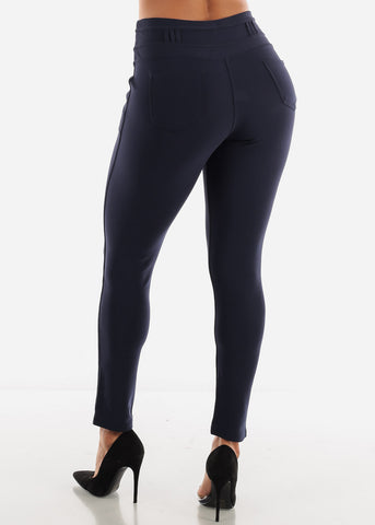 Navy Skinny Pants