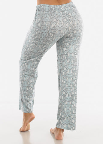 Grey Snake Print Top & Pants Set