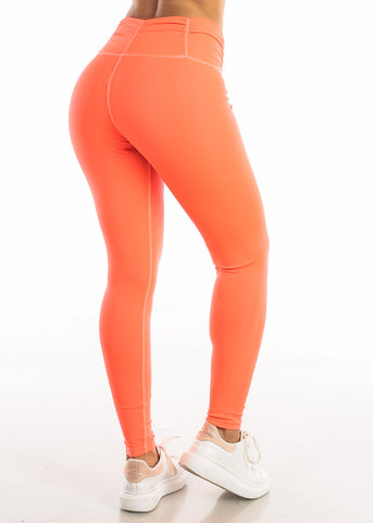 Image of Activewear High Rise Neon Green Leggings