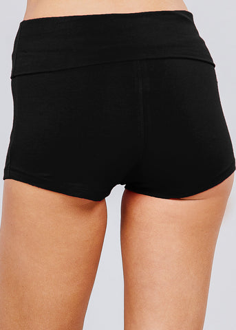 Image of High Waisted Black Yoga Short