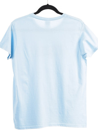 "Light Blue Graphic Top ""Whatever"""