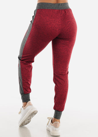 Heather Red Fleece Drawstring Jogger
