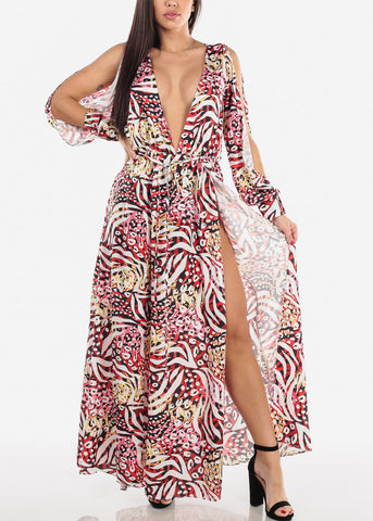 Split Sleeve Maxi Dress