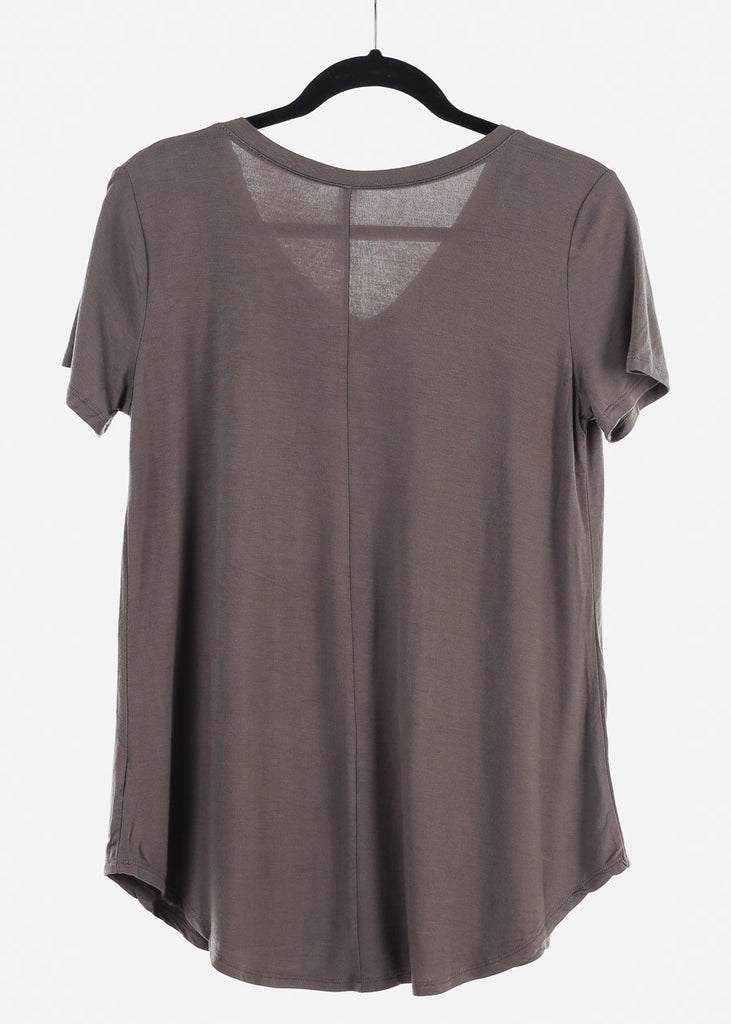 "Charcoal Graphic Top ""Lucky Strike"""