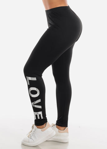 "Image of Activewear Black Leggings ""Love"""