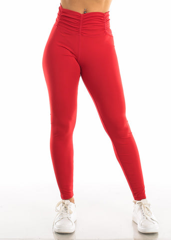 Activewear High Rise Red Leggings