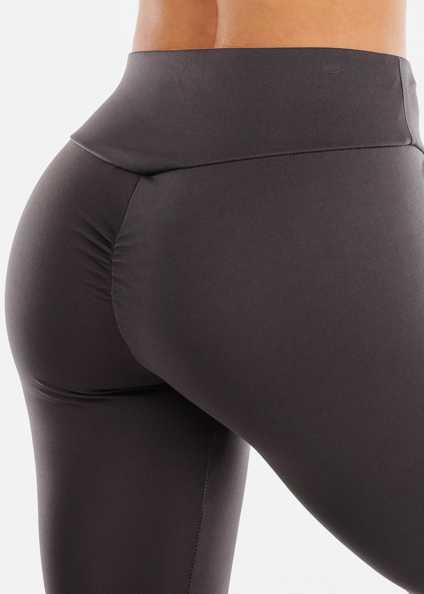 Ruched Butt Dark Grey Leggings