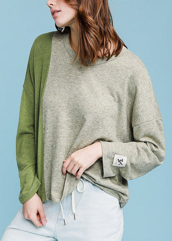 Long Sleeve Olive Pullover Top