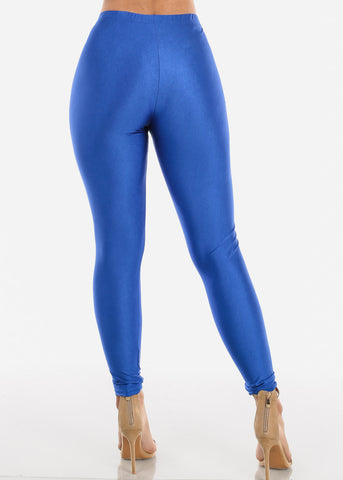 Metallic Blue Leggings