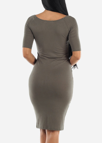 Knee Length Bodycon Dress