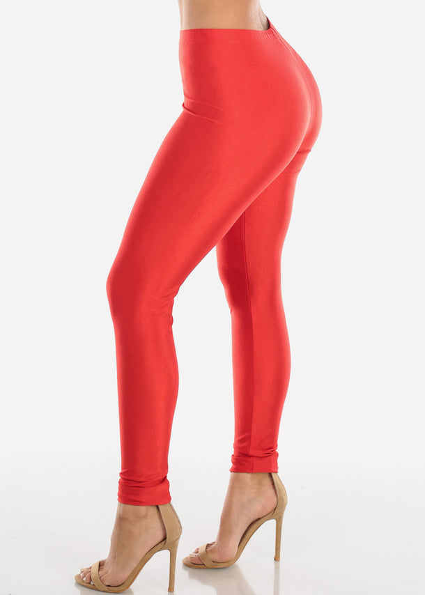 Metallic Red Leggings