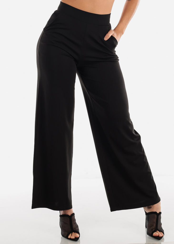 Wide Legged Black Dressy Pants