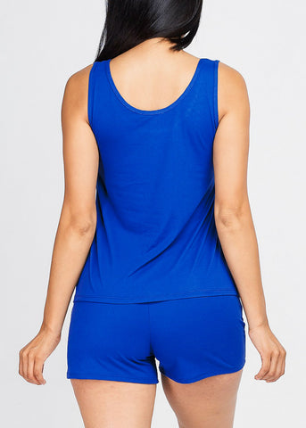 Royal Blue Tank Top & Shorts (2 PCE SET)
