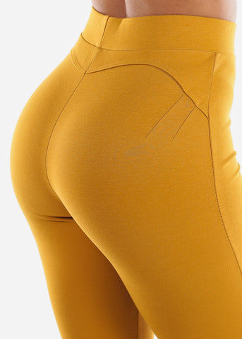 Image of Butt Lifting Mustard Skinny Pants