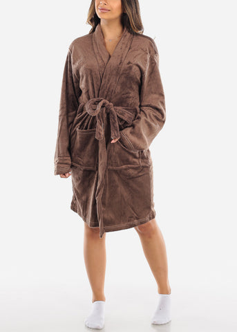 Brown Fleece Robe