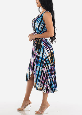 Casual Printed Multicolor Maxi Dress