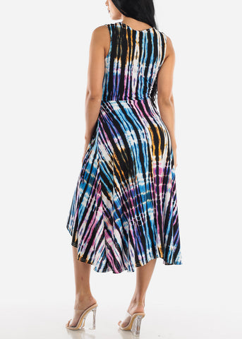 Image of Casual Printed Multicolor Maxi Dress