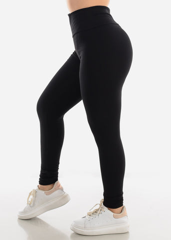 Activewear Pull On Black Skinny Leggings