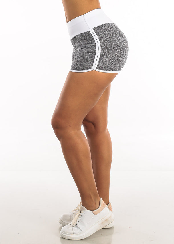 Activewear Heather White Shorts