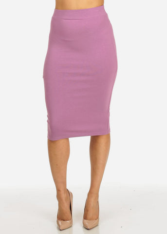 Image of Lilac High Waisted Stretchy Skirt