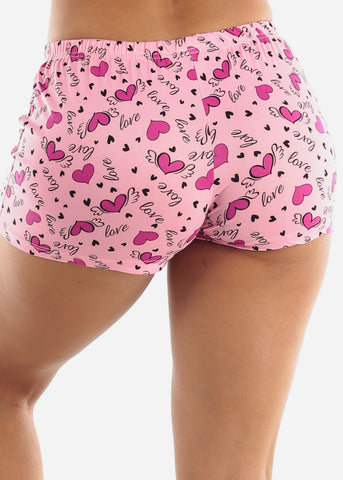 "Image of Pink ""Follow Your Heart"" PJ Shorts Set"