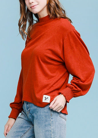 Turtle Neck Rust Sweater Top