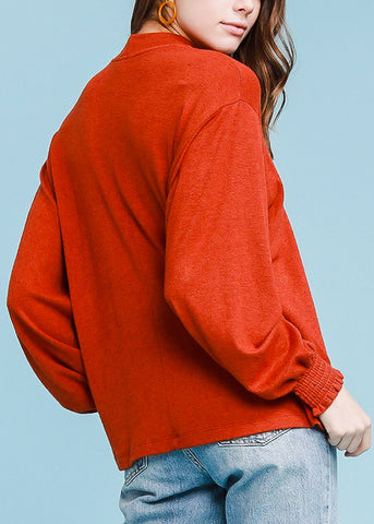 Image of Turtle Neck Rust Sweater Top