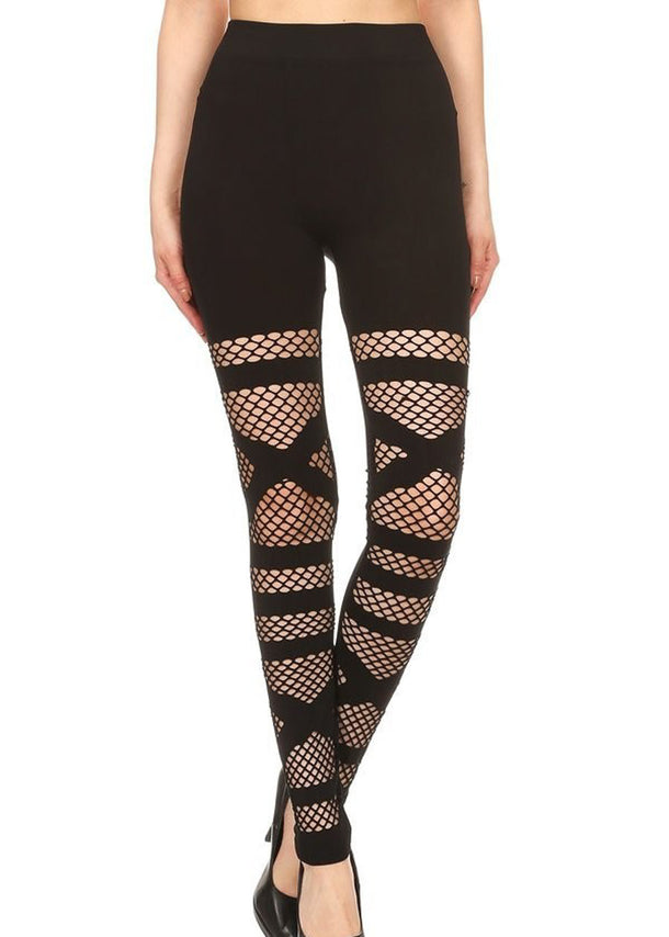 Black Triangle Cutout Seamless Leggings