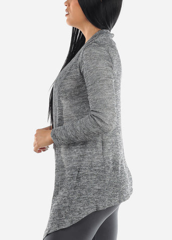 Open Front Grey Cardigan