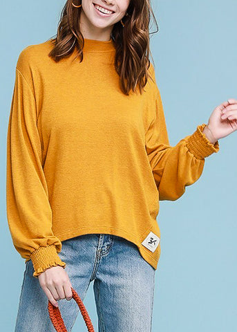 Image of Turtle Neck Mustard Sweater Top