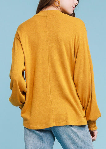 Turtle Neck Mustard Sweater Top